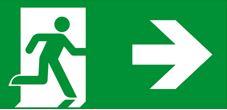 Piktogramm Fluchtwegzeichen Fluchtweg rechts